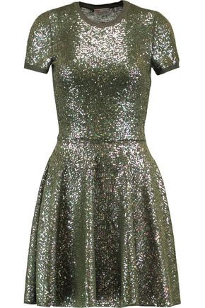 REDValentino Sequined wool mini dress
