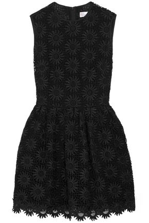 REDValentino Silk macramé lace mini dress