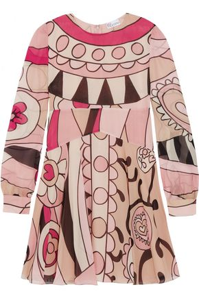 REDValentino Printed silk mini dress