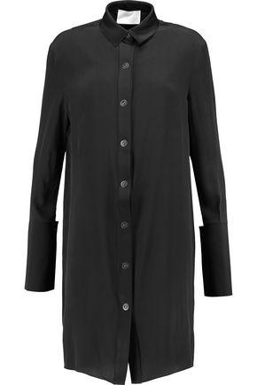 SOLACE LONDON Etta silk-satin trimmed silk dress