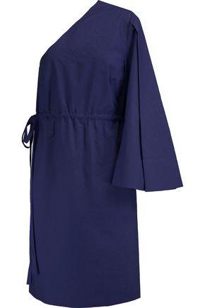 SOLACE LONDON Aylin one-shoulder cotton-poplin dress