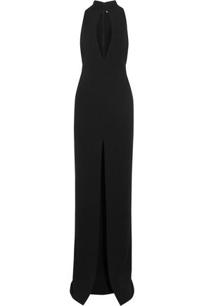 SOLACE LONDON Taegan cutout crepe gown