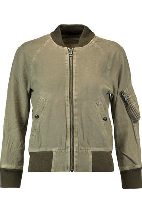 R13 Ribbed knit-trimmed cotton-blend jacket