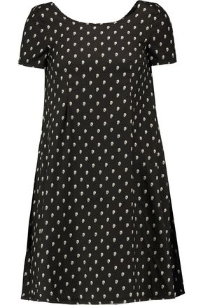 R13 Babydoll printed silk-voile mini dress