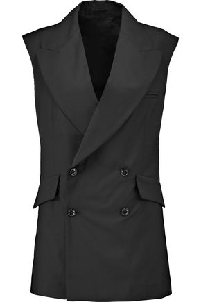 R13 Double-breasted cotton-blend gilet