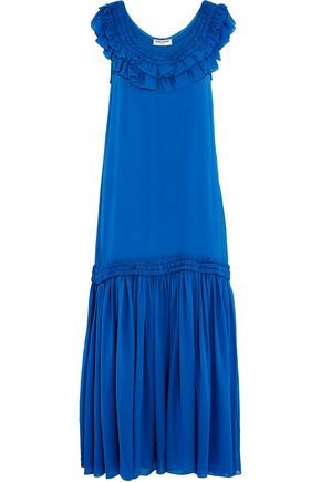 OPENING CEREMONY Ruflled silk crepe de chine maxi dress