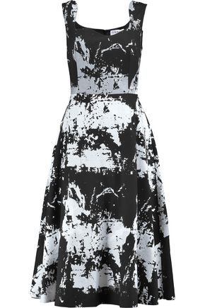 OSMAN Zlata printed wool-blend felt dress