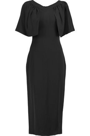 OSMAN Edith ruffled crepe midi dress
