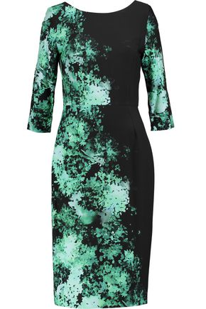 GOAT Venus floral-print crepe dress