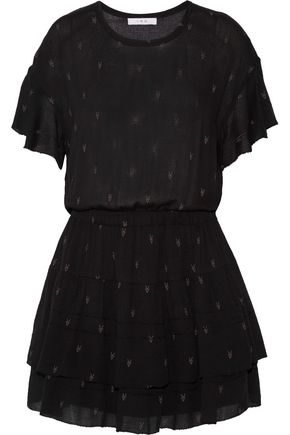 IRO Naelle printed gauze dress