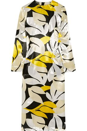 MARNI Printed satin dress