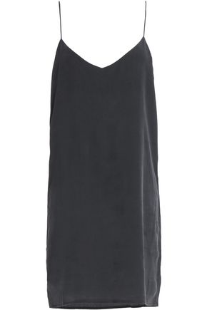 MIKOH Open-back crepe de chine mini dress