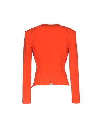 Фото 2 - Женский пиджак  оранжевого цвета