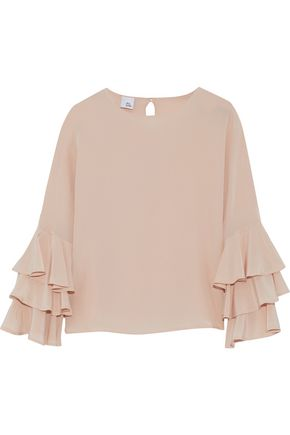IRIS & INK Yana ruffled silk-crepe de chine blouse