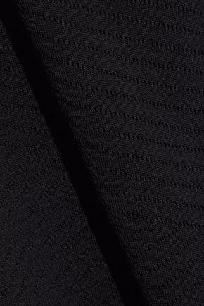 PIERRE BALMAIN Tie-neck pointelle-knit dress