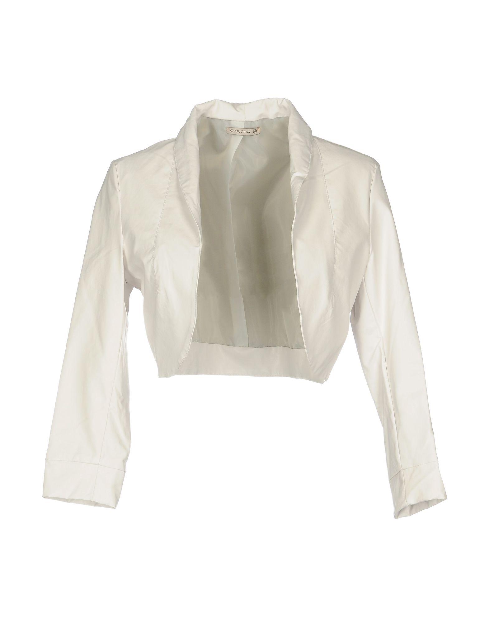《期間限定セール中》GOA GOA レディース テーラードジャケット ホワイト M ポリウレタン 100%