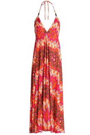 HEIDI KLEIN Printed stretch-jersey halterneck maxi dress