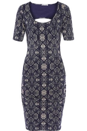 TART COLLECTIONS Jasmin cutout printed modal-blend dress