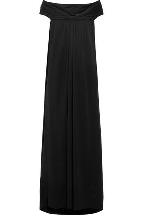 HATCH Luella off-the-shoulder stretch-jersey maxi dress