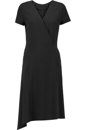 JOSEPH June asymmetric wrap-effect stretch-crepe dress