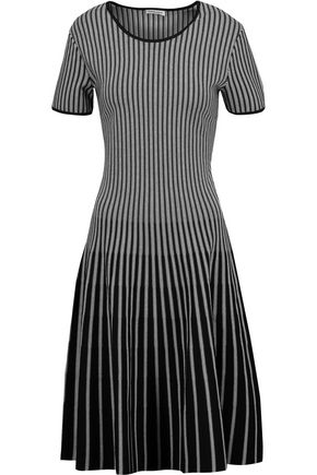 TOMAS MAIER Striped stretch-knit dress