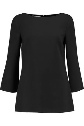 MICHAEL KORS COLLECTION Wool-crepe top