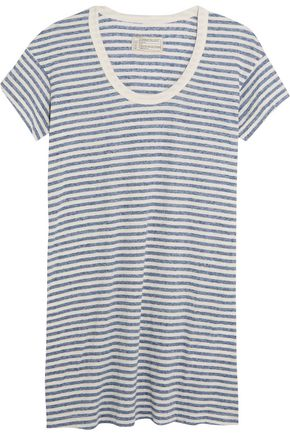 CURRENT/ELLIOTT The Slouchy striped jersey mini dress