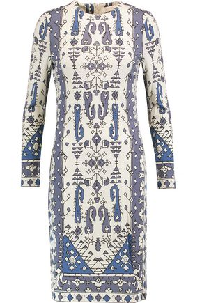 TORY BURCH Printed crepe dress