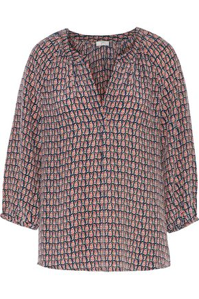 JOIE Addie B printed silk crepe de chine blouse