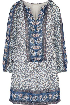 JOIE Floral-print silk-georgette mini dress