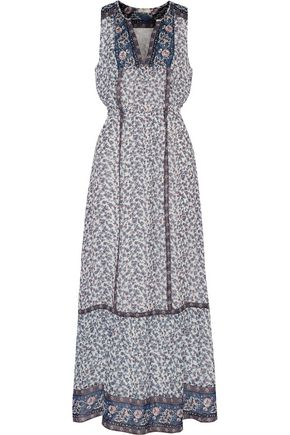 JOIE Atisha printed silk crepe de chine maxi dress