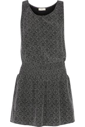 JOIE Lawska printed silk crepe de chine mini dress