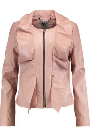 MILLY Ruffled leather jacket