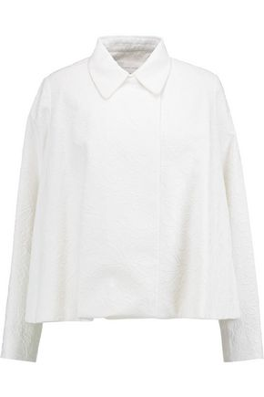 VICTORIA, VICTORIA BECKHAM Embossed cotton-blend jacket