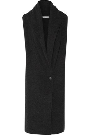 DUFFY Draped wool and cashmere-blend vest