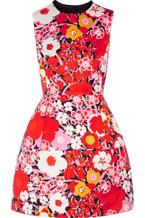 VICTORIA, VICTORIA BECKHAM Floral-print satin mini dress