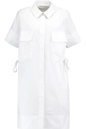 VICTORIA, VICTORIA BECKHAM Oversized cotton-poplin mini dress