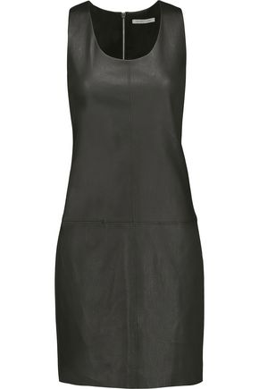 HELMUT LANG Leather mini dress