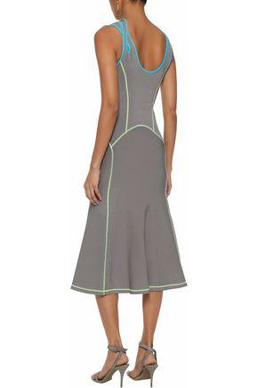 ALEXANDER WANG Cutout stretch-knit midi dress