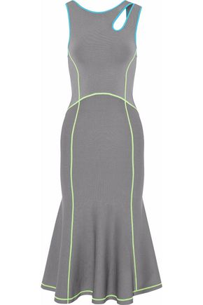 ALEXANDER WANG Cutout stretch-knit midi dress