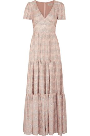 TEMPERLEY LONDON Verve metallic jacquard gown