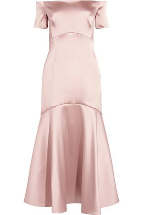 TEMPERLEY LONDON Off-the-shoulder stretch-satin gown