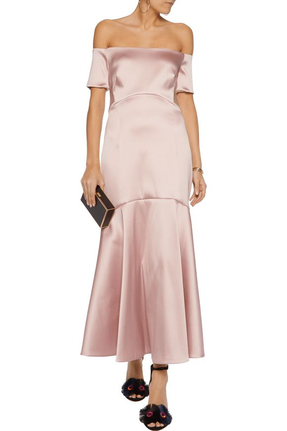 Off-the-shoulder stretch-satin gown | TEMPERLEY LONDON | Sale up to 70% off  | THE OUTNET