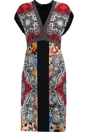 ETRO Printed satin dress