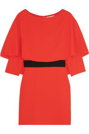 ALICE + OLIVIA Cairo cape-back crepe mini dress