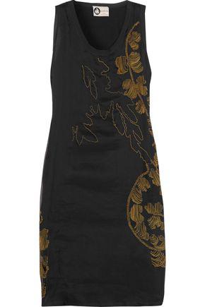 LANVIN Embellished silk-organza dress