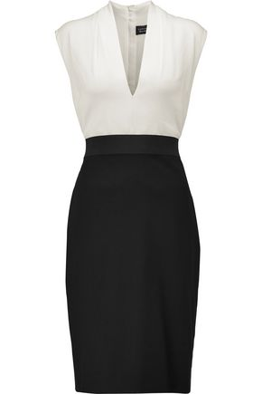 LANVIN Two-tone crepe dress