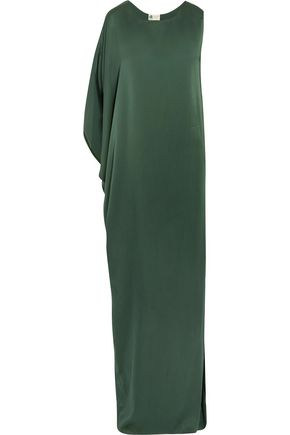 LANVIN Draped silk-satin gown