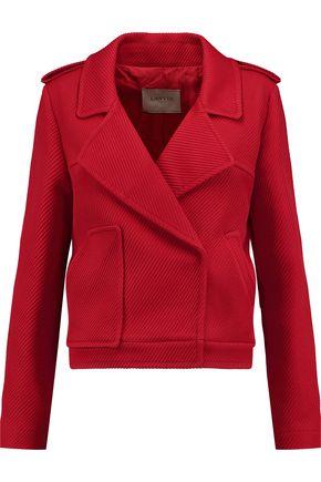 LANVIN Ribbed alpaca-blend jacket