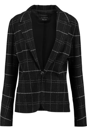 LANVIN Checked wool-blend jacket